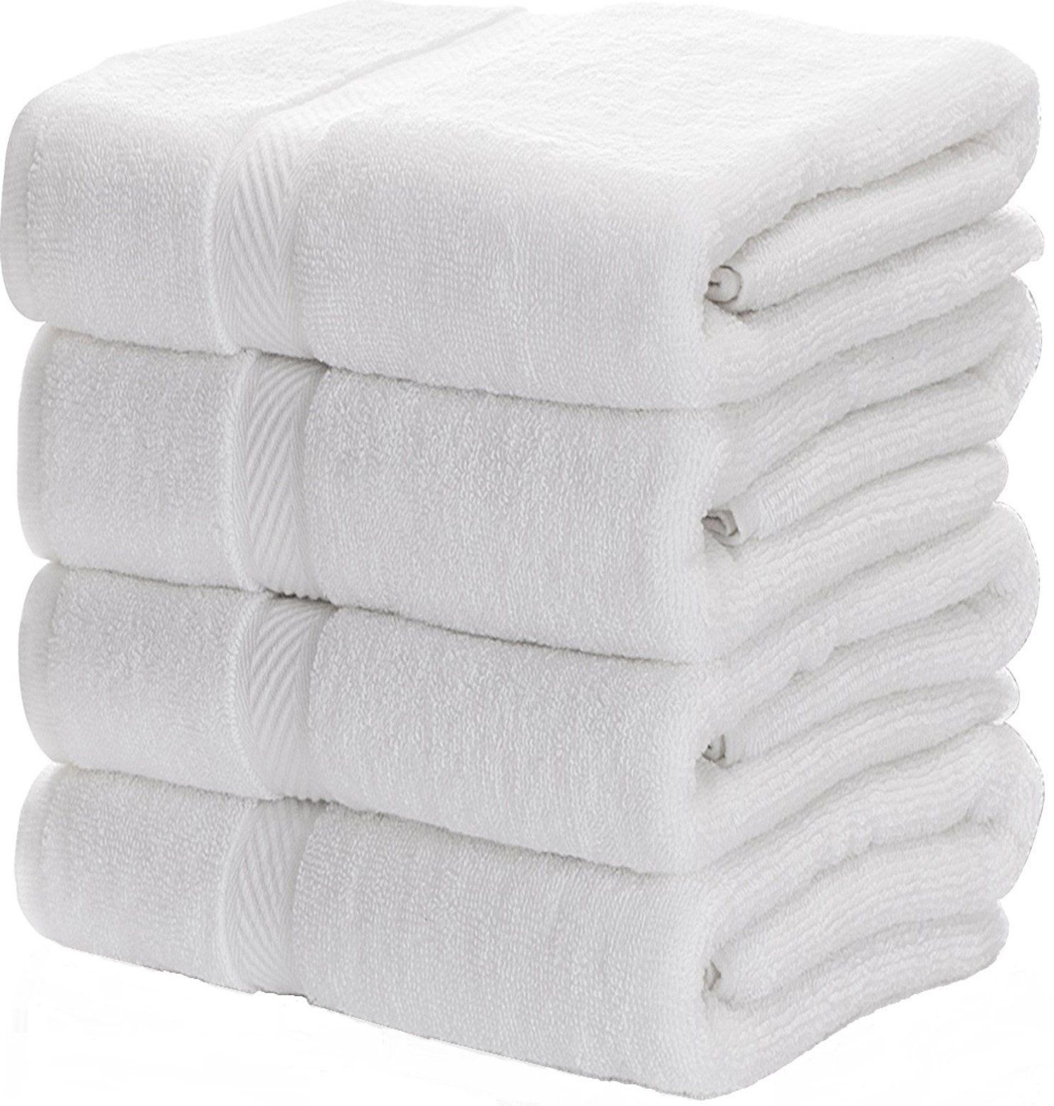 Luxury White Bath Towels for BathroomHotelSpaKitchenSet