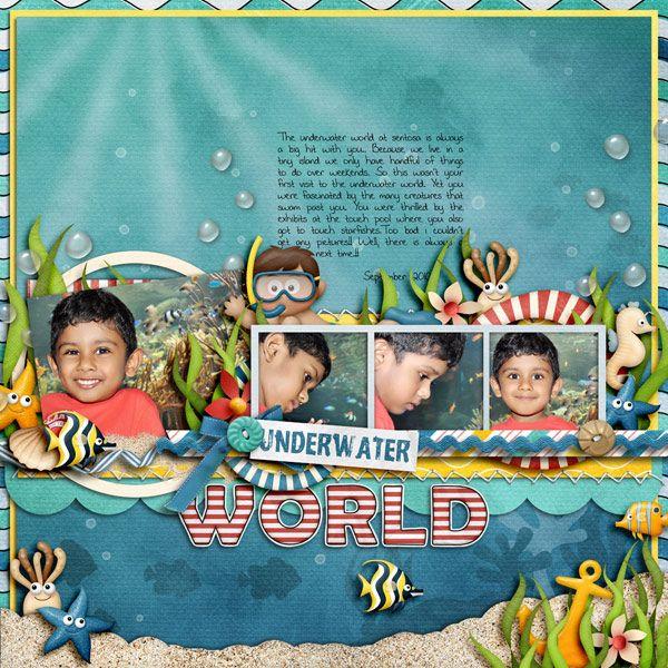 Cindy's Template set #95 Beach Kids: Underwater by Lliella Designs Beach Kids: Alpha pack by Lliella Designs DJB The Libster by Darcy Baldwin