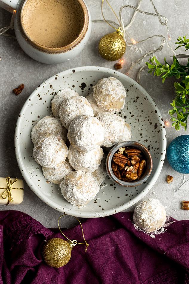 Mexican Wedding Cookies Paleo Keto Low Carb Vegan