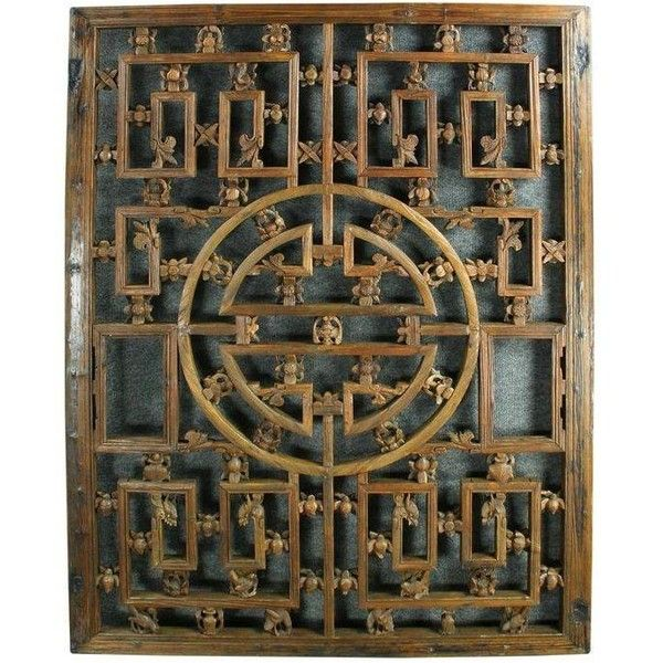 Large Antique Chinese Window Screen Folk Art ($2,540) ❤ Liked On