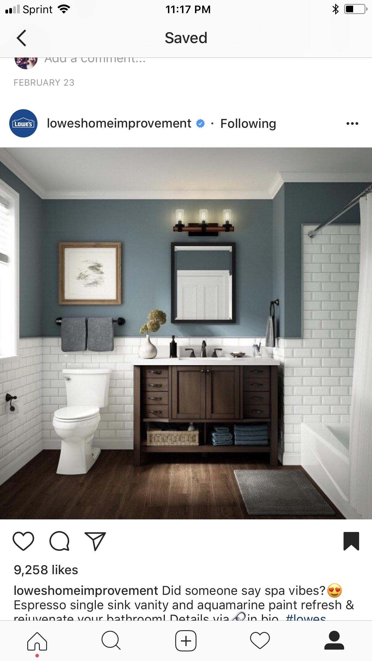 Half Tiled Wall Painting Bathroom Subway Tiles Bathroom Bathrooms Remodel