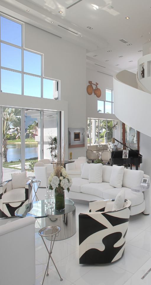 Gorgeous home with white interior Pin by