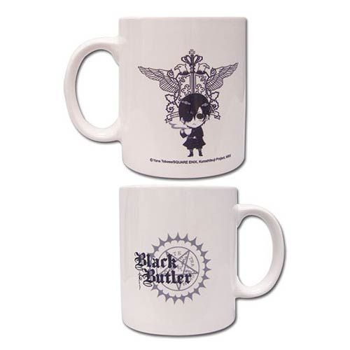 Sebastian White Coffee Mug by GE Animation *NEW* Black Butler