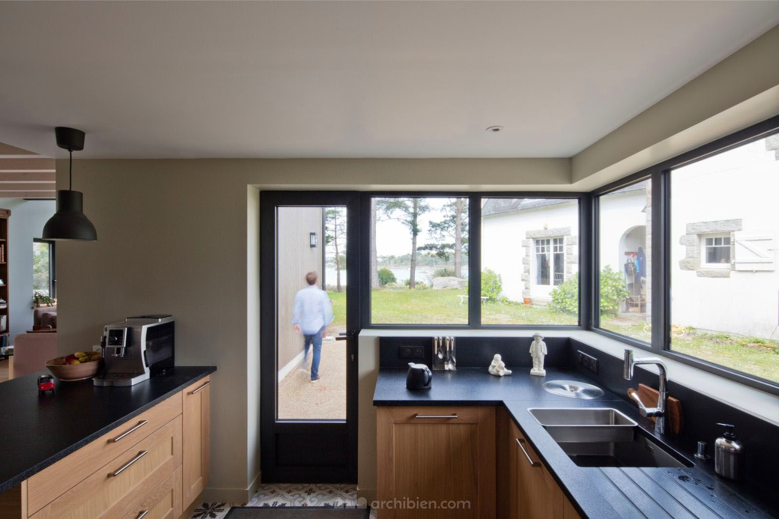 La construction neuve d\'une maison dans le Finistère, avec ...