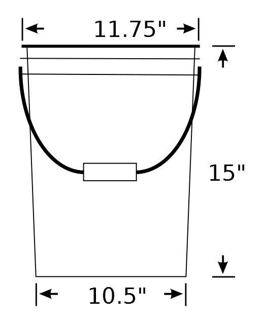 5 Gallon Bucket Dimensions Google Search With Images Clipart