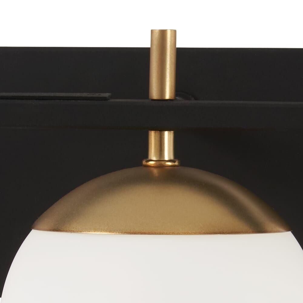 Photo of George Kovacs Alluria 3-light basin lamp in weathered black