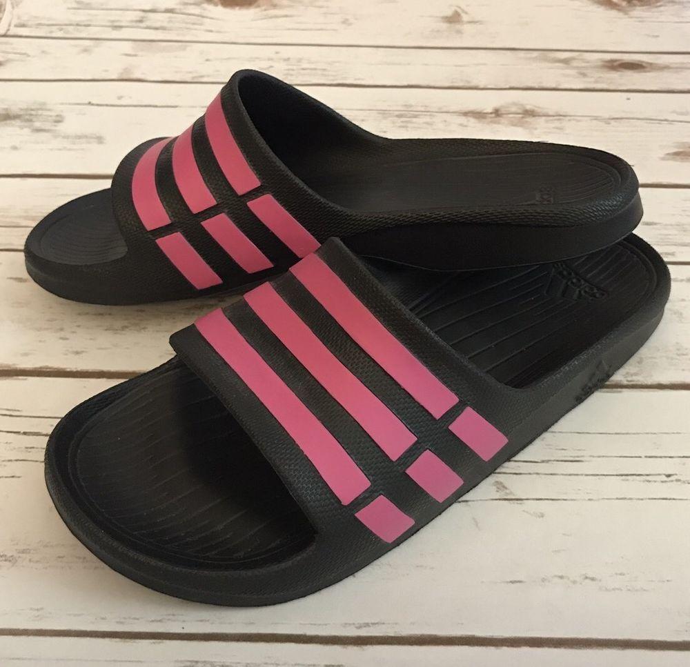 NWOB Adidas Duramo Slide Black Pink Men s 9 Women s 11 Sport Slipper Sandal 324d17077c