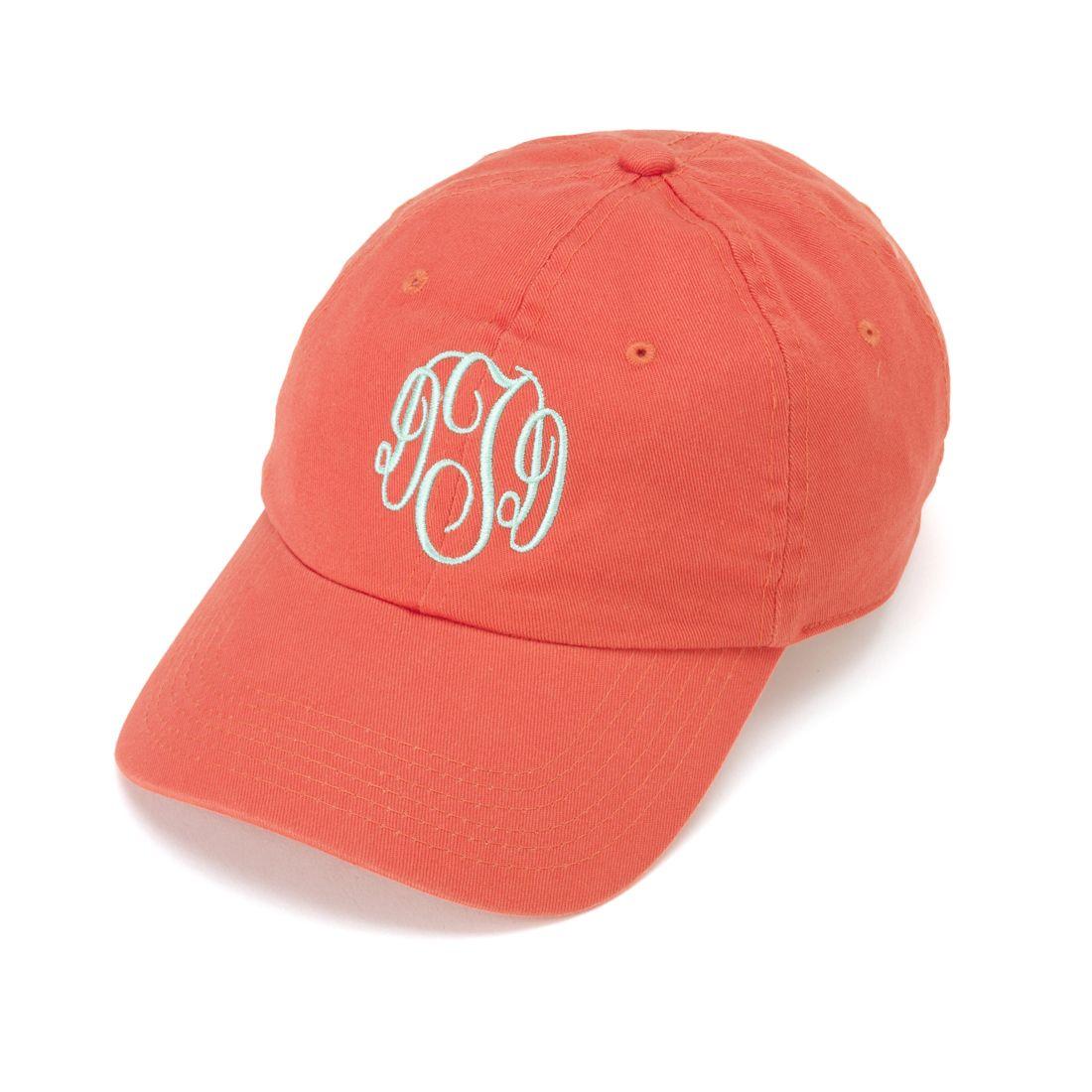 Ladies Coral Monogrammed Hat  909497b80478