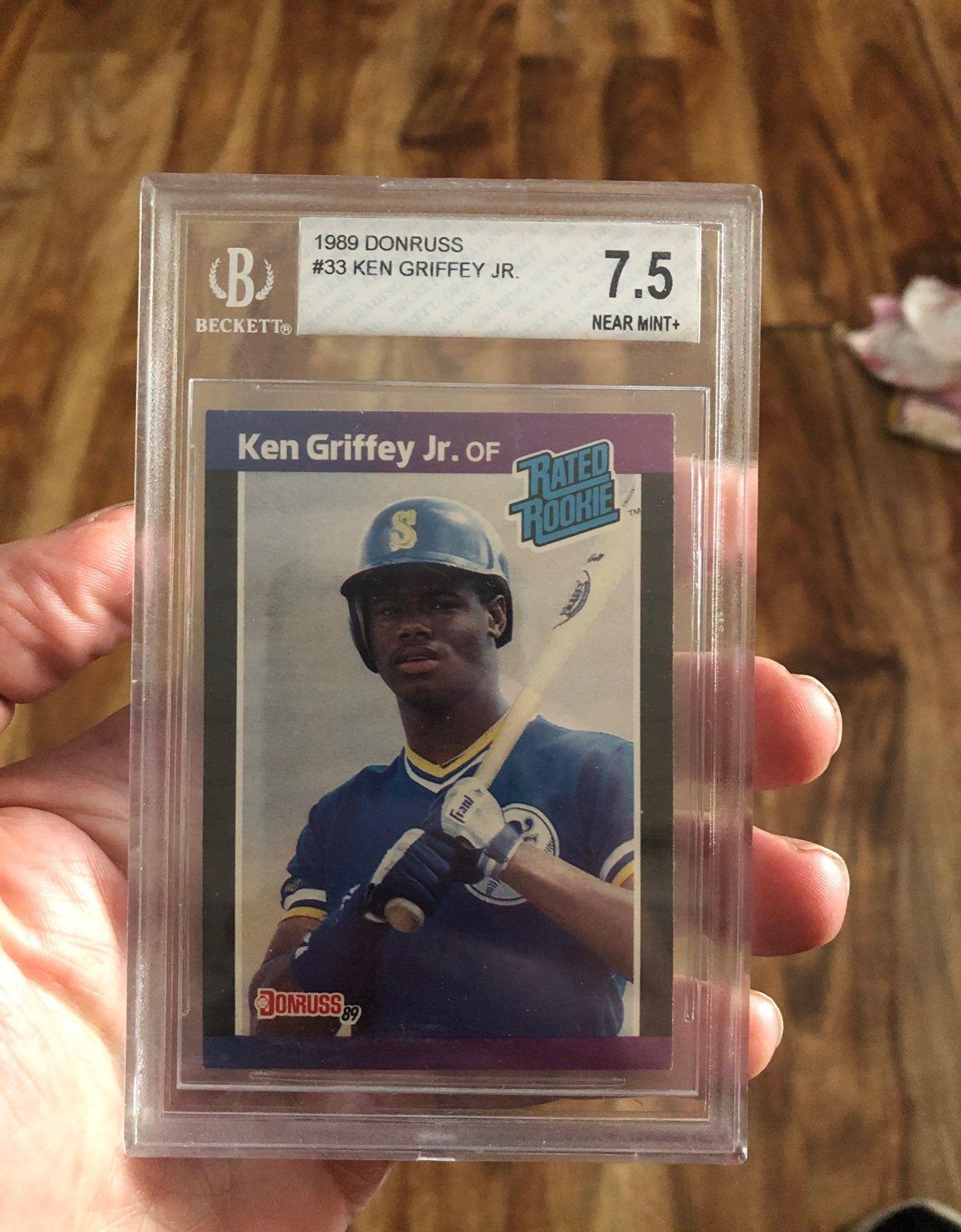 1989 donruss rated rookie ken griffey jr card 33 beckett