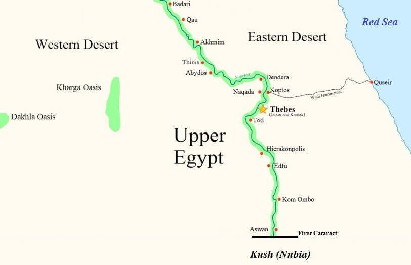 Upper Egypt Produced Most Of The Surviving Evidence For Egyptian - Map of upper egypt