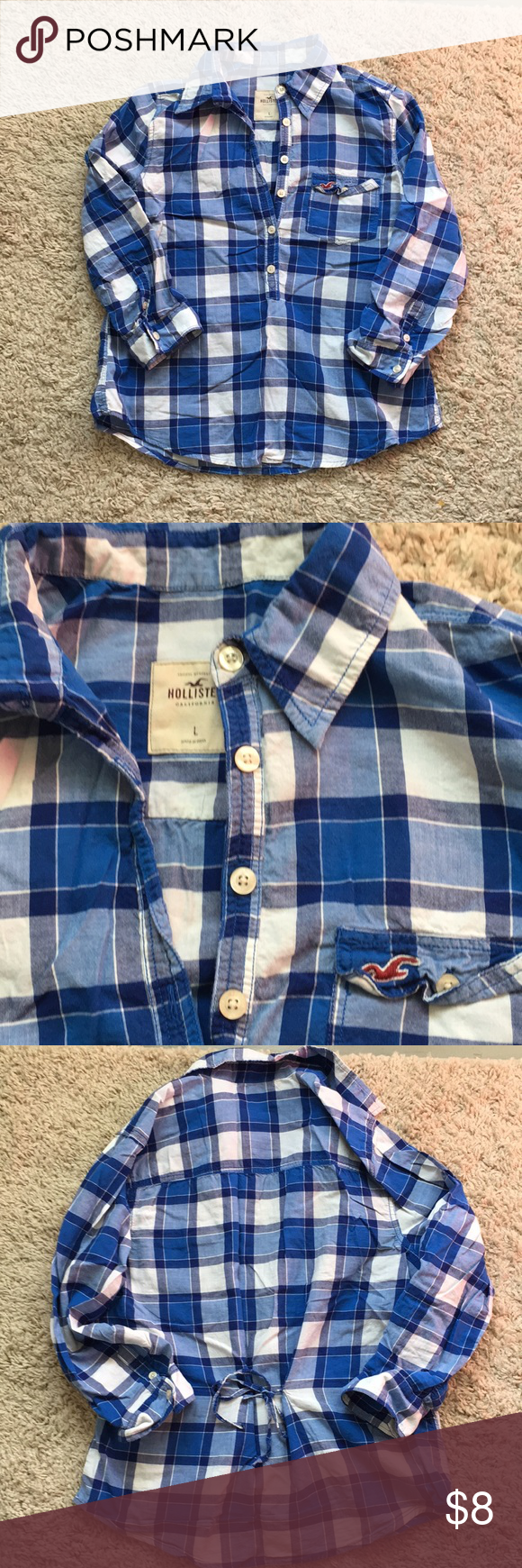 Hollister flannel shirts womens  Closet Closing Final Dropuc Hollister plaid shirt  Plaid and