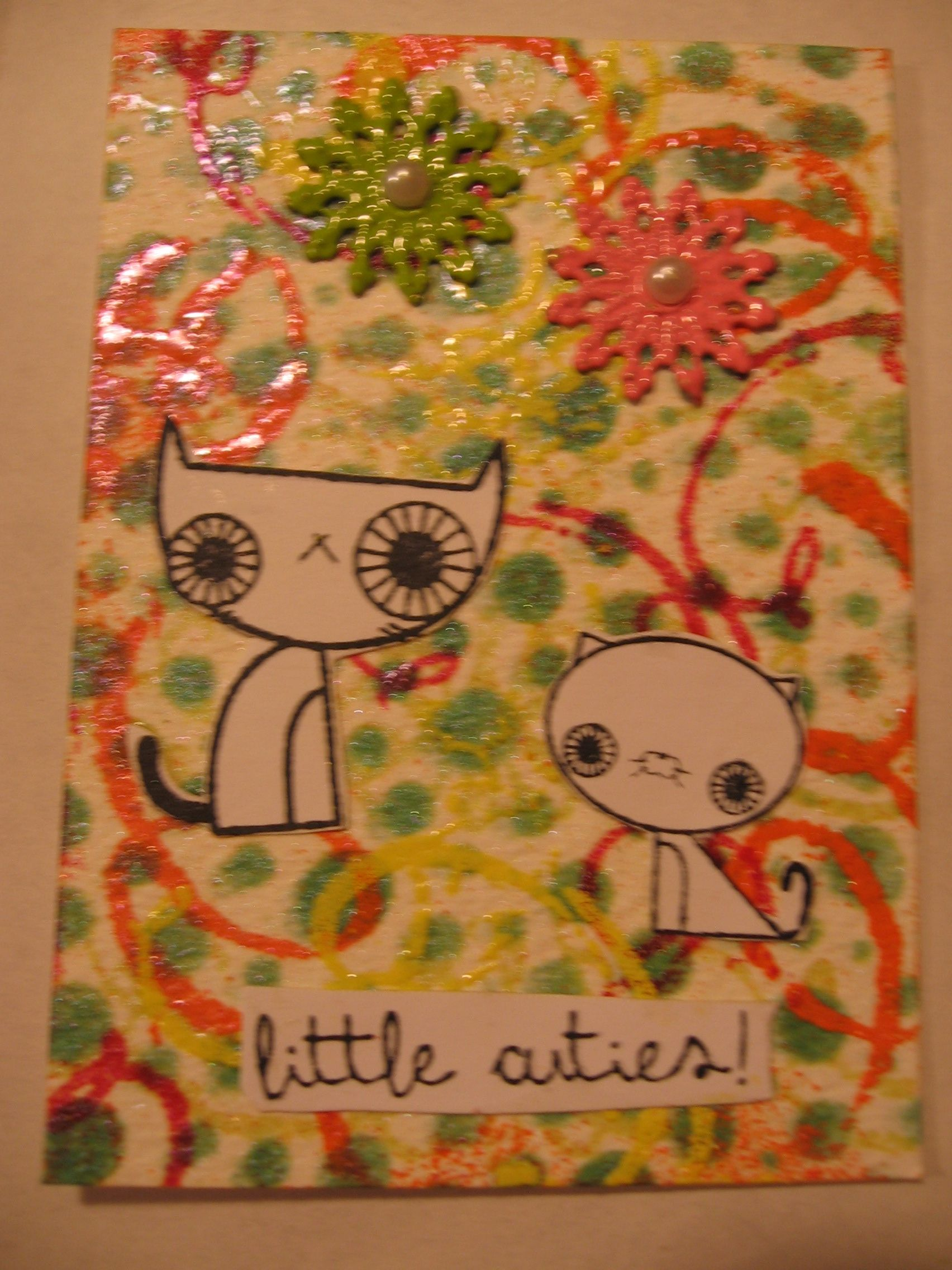 Little Cuties ATC Featuring Shimmerz and Craftsupplies1 Metal Filigrees