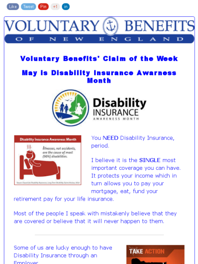 Voluntary Benefits Claim Of The Week 5 15 Disability Insurance