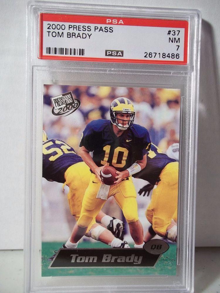 2000 Press Pass Tom Brady Rookie Psa Nm 7 Football Card 37