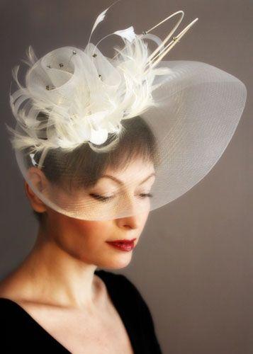 Arte & Casamento: Tudo na cabeça: voilette, casquetes e fascinators