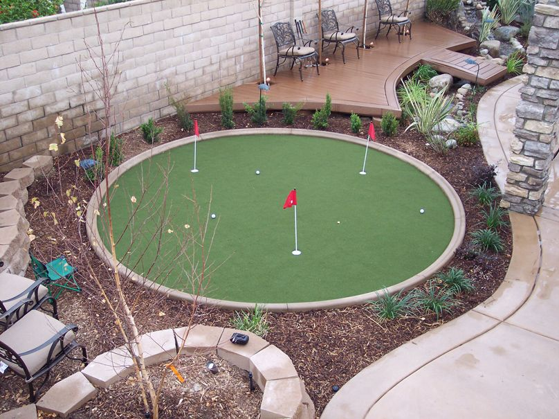 earl and joey want a putting green in the back yard