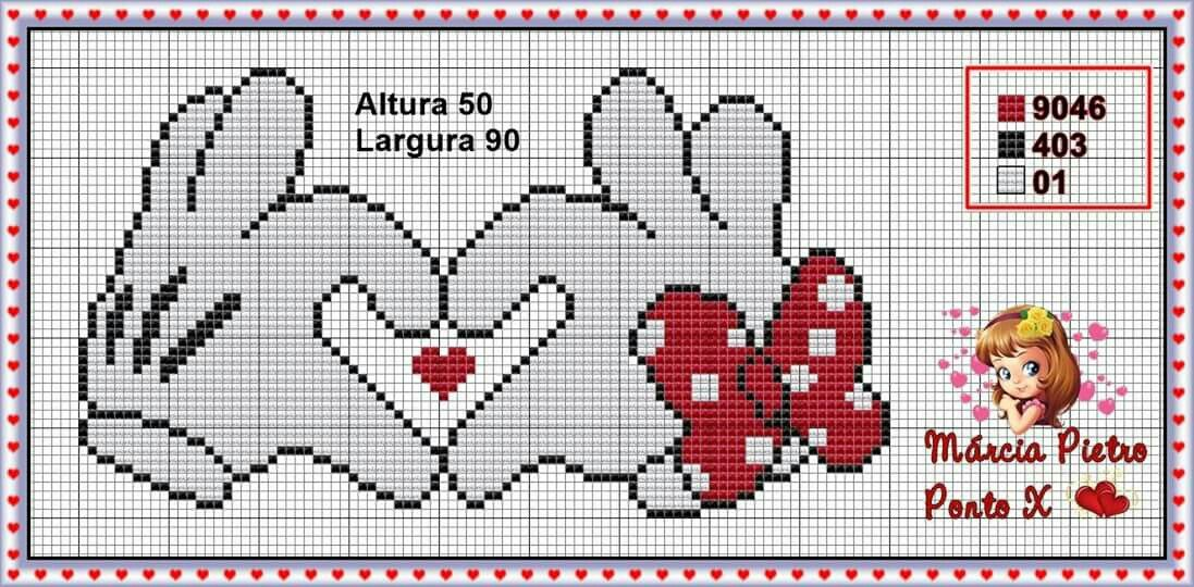 Minnie and Mickey Mouse x-stitch heart hands | PINTURA BEBE Y NIÑOS ...