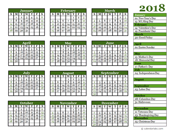 Editable  Yearly Calendar Landscape  Desktop