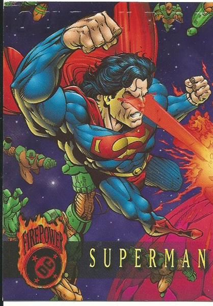 SUPERMAN FIRE POWER PROMO CARD EMBOSSED | I dunno  | Superman