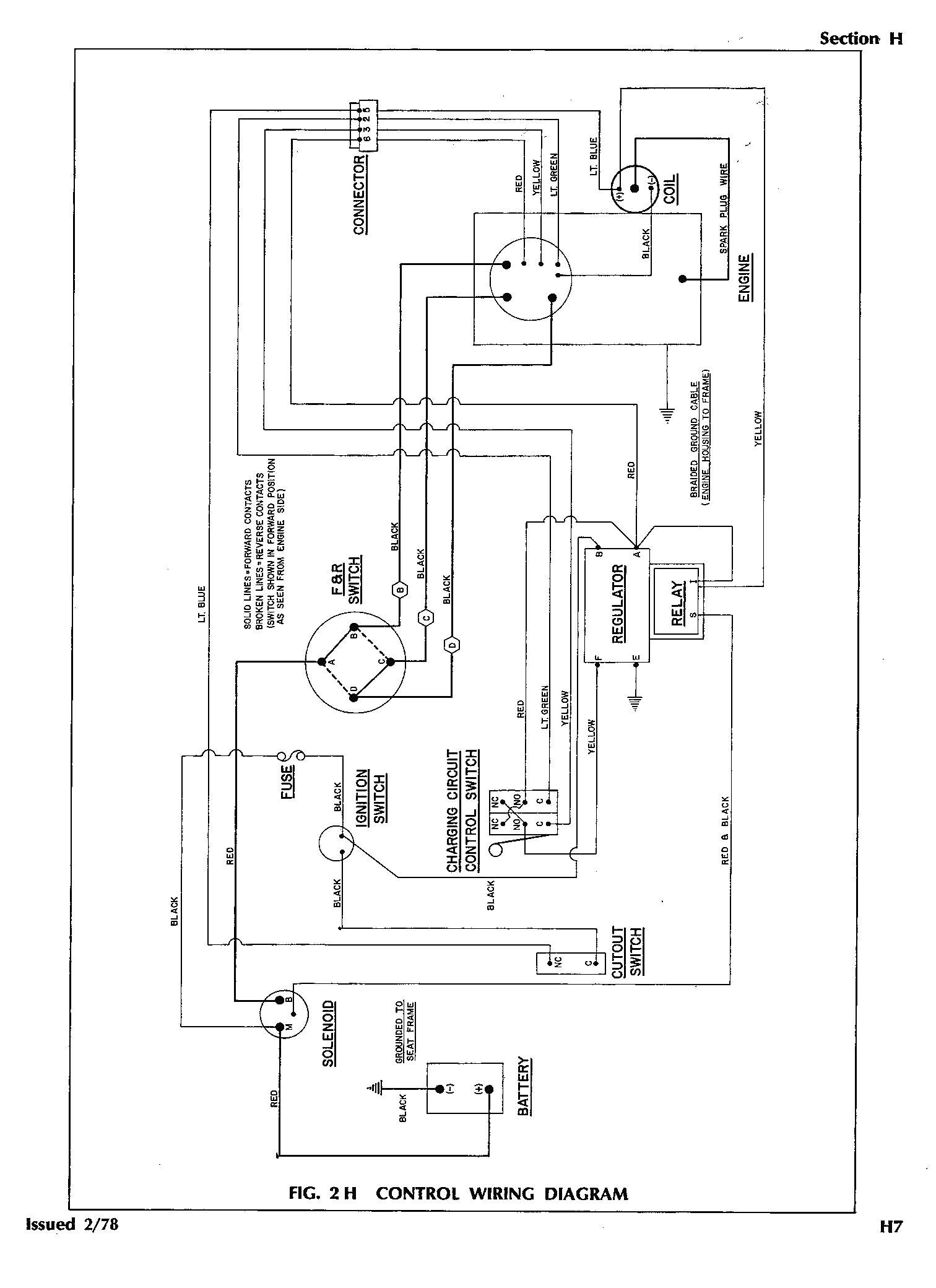 Ez Go Golf Cart 36 Volt Wiring Diagram