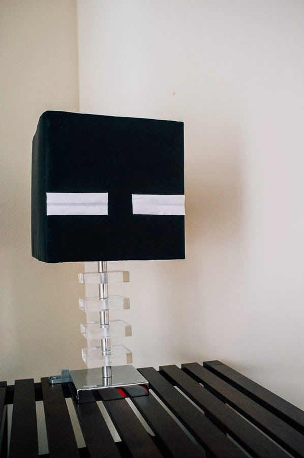 Easy lamp hack enderman theme for a minecraft bedroom danielleq curiouser and curiouser - Minecraft schlafzimmer ...