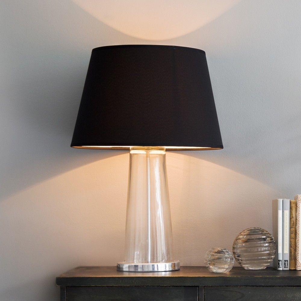 Table Lamps With Black Shades Glass table lamp, Table