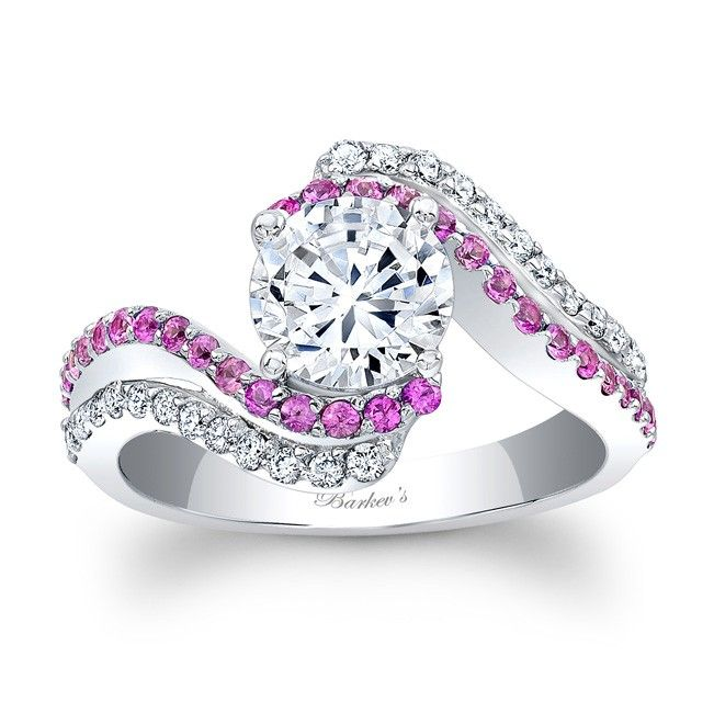 10 images about wedding rings on pinterest pink sapphire wedding ring and wedding ring set - Pink Wedding Rings