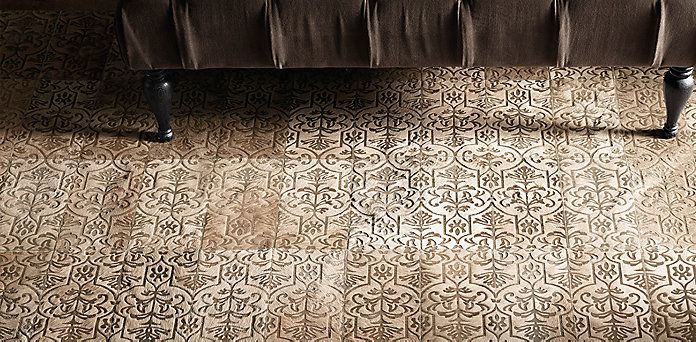 Etched Porta Tile Cowhide Rug Collection | RH