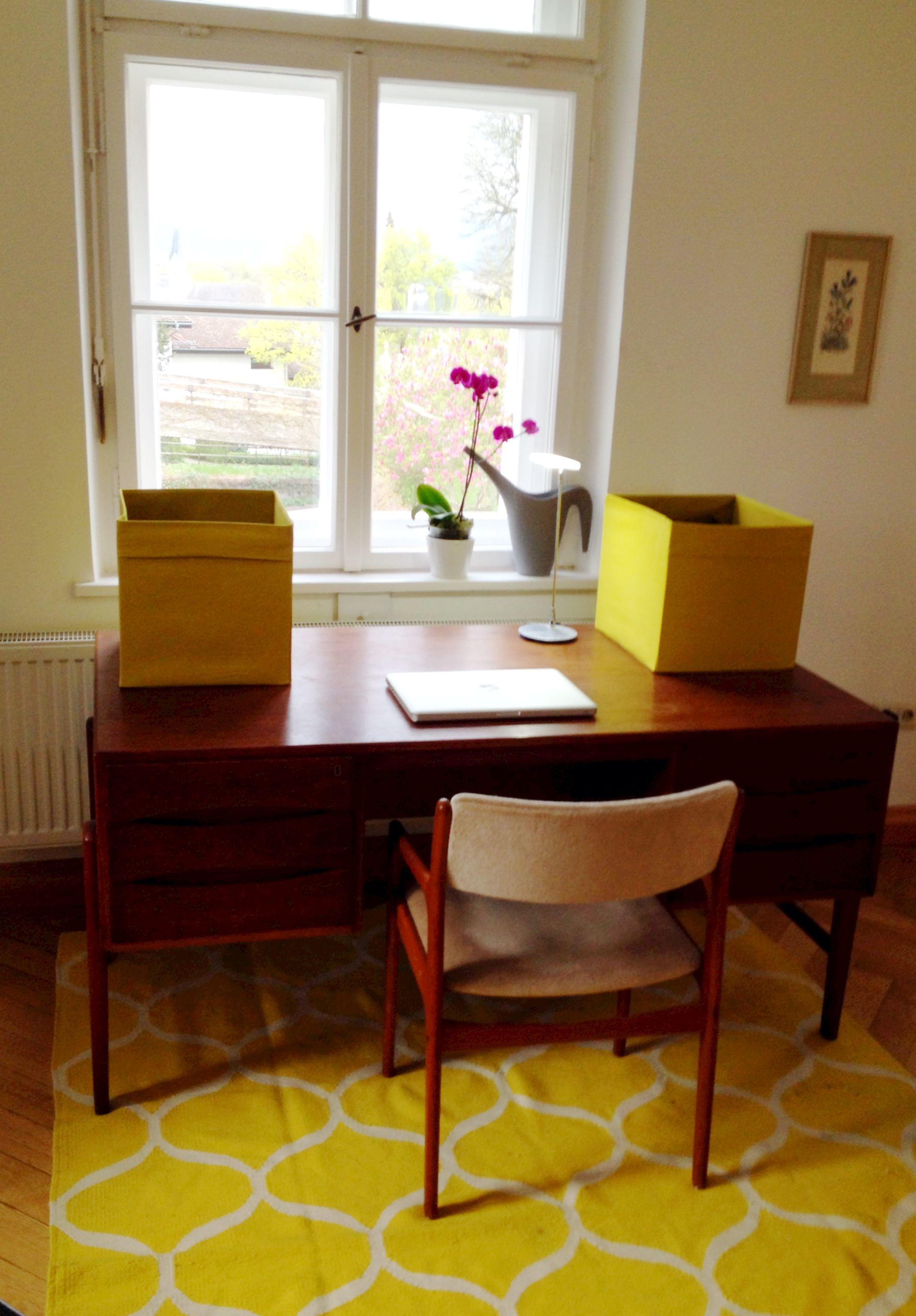 Schreibtisch 60er Jahre 60s Ikea Teppich Altbau Daheim
