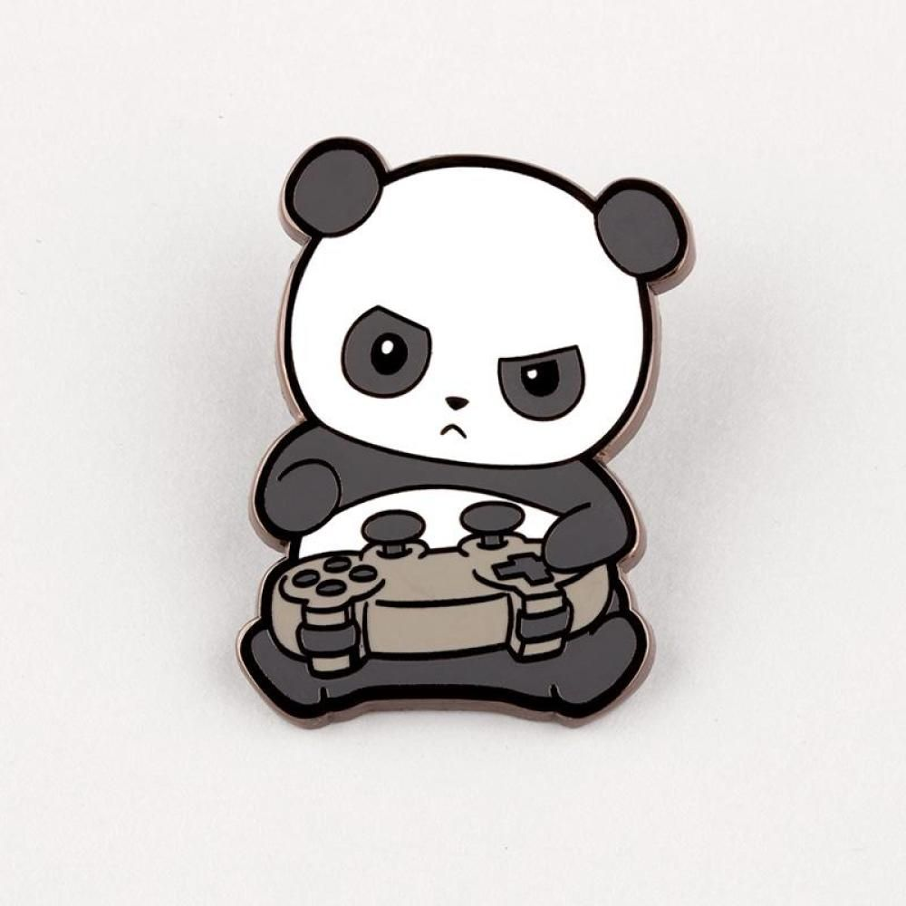 Pew Pew Panda Pin Funny Cute Nerdy Pins Teeturtle Pandas Animados Dibujos De Pandas Kawaii Arte De Panda
