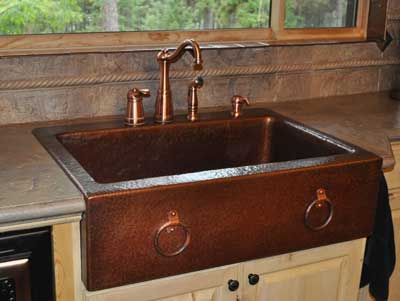 Hammered Copper Kitchen Sink | kitchen | Copper farmhouse ...