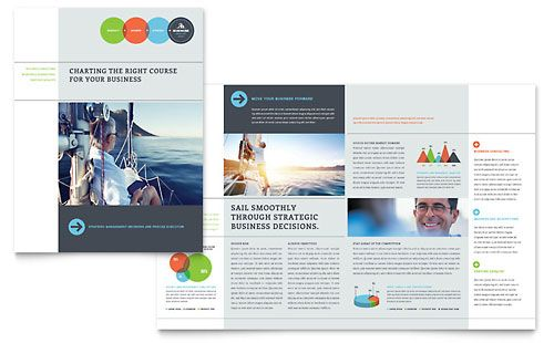 Business Analyst Brochure Word Publisher Template Design