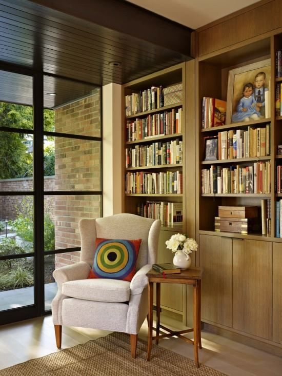 waterfront home in eclectic style for beautiful scenic views mid century modern armchair placed under corner as a focal point among small sofa furniture