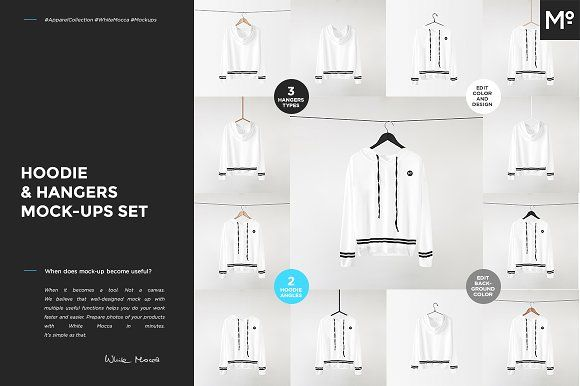 Download Hoodie Hangers Mock Ups Set By Mocca2go Mesmeriseme On Creativemarket Mock Up For Products Display Mockup Shirt Mockup Hanger