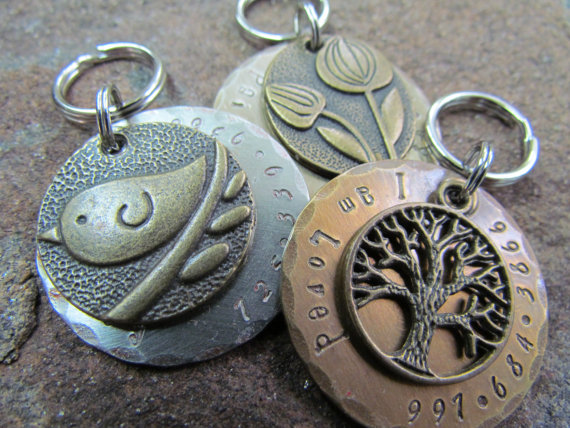 custom pet id tag pet tag dog tag antique bronze pendant