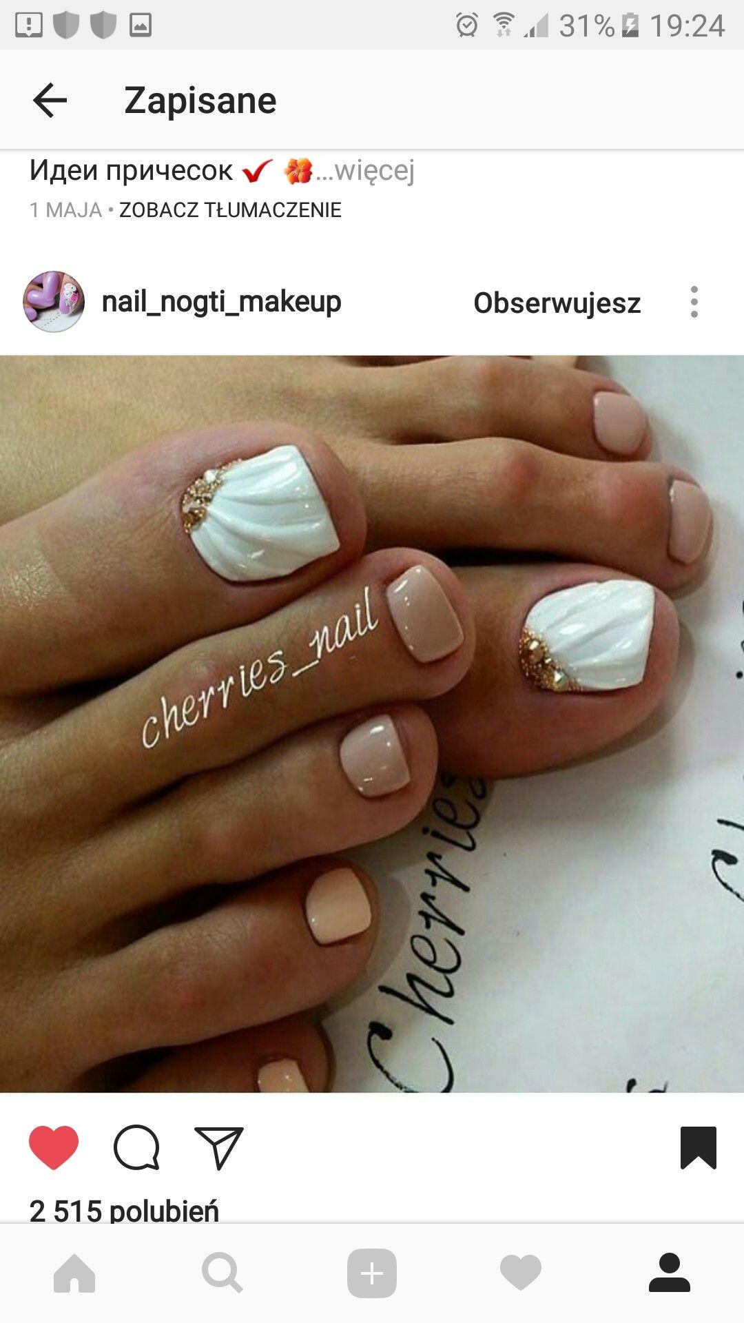 Pin by Magda Jaro on nails PEDICURE   Pinterest   Toe nail designs ...