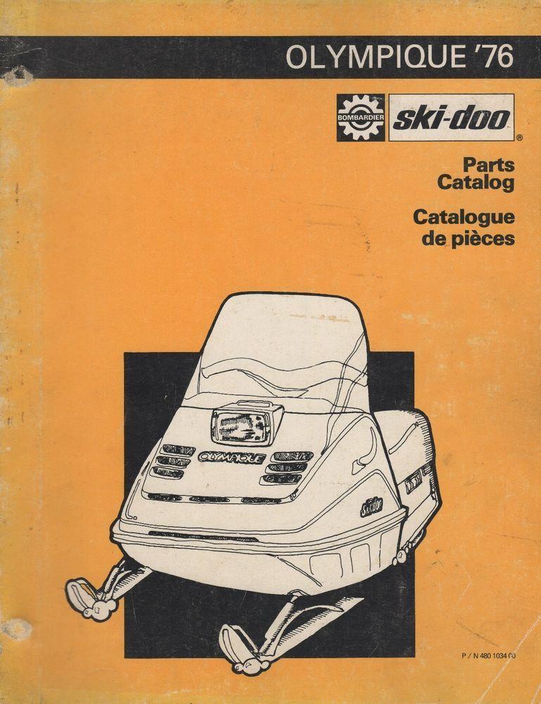 1976 ski doo olympique snowmobile parts manual 480 1034 00 585 rh in pinterest com In Safari W 1991 1991 Ski-Doo Safari