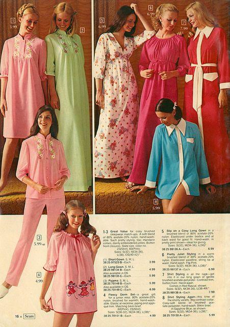 1973 Sears Christmas Catalog sleepwear | 70's Sears | Pinterest ...