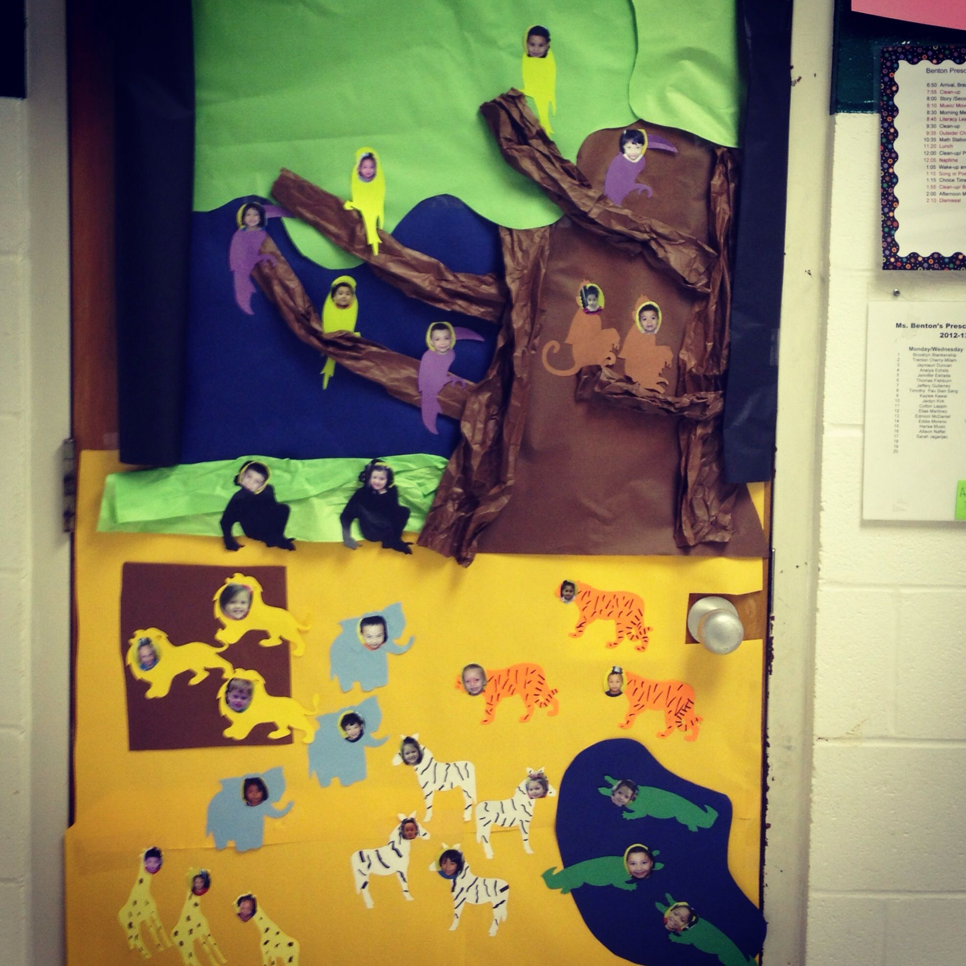 Preschool Zoo Theme Door Decoration!