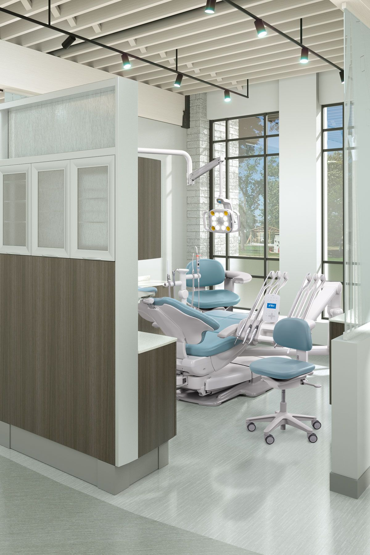 Light And Bright Dental Operatory With A Dec 500 Dental Equipment