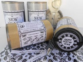 """*Rook No. 17: recipes, crafts & whimsies for spreading joy*: Start a New Year's Tradition ~The """"New Year in a Can"""" Tutorial( An Elmer's #GlueNGlitter Project)"""