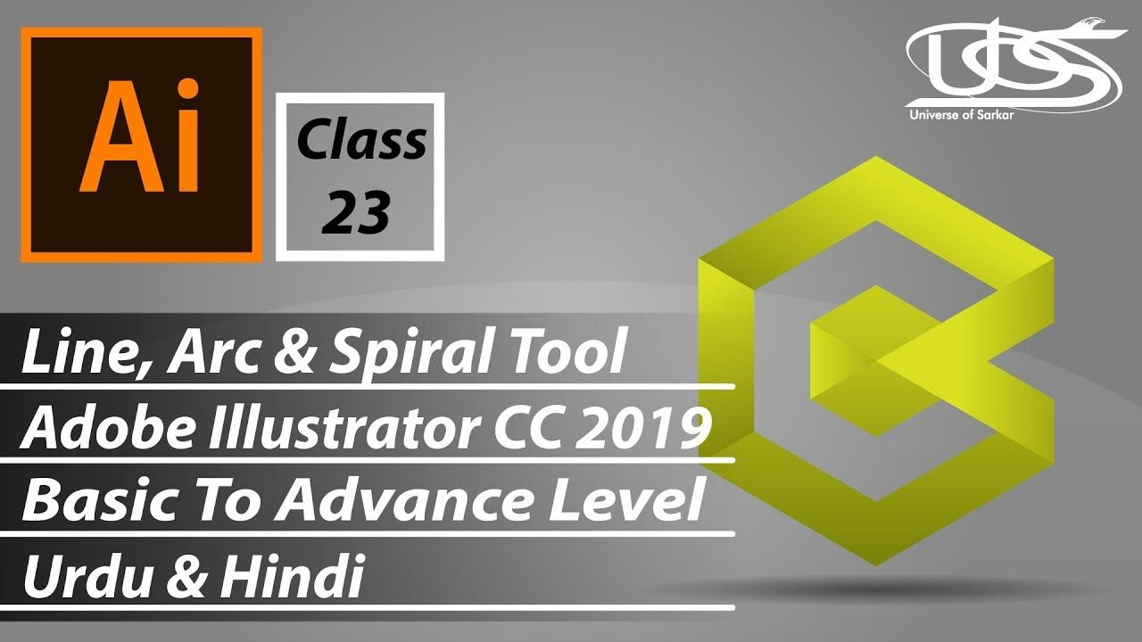 Line, Arc & Spiral Tools With details in Adobe Illustrator CC (Basic