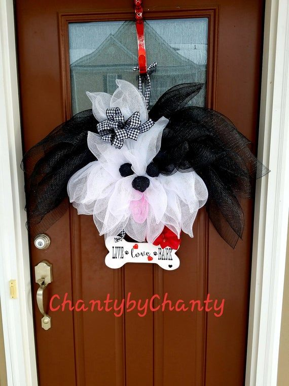 Photo of Simple TUTORIAL DIY craft projects dog wreath front door wreath for dog mom, ChantybyChanty
