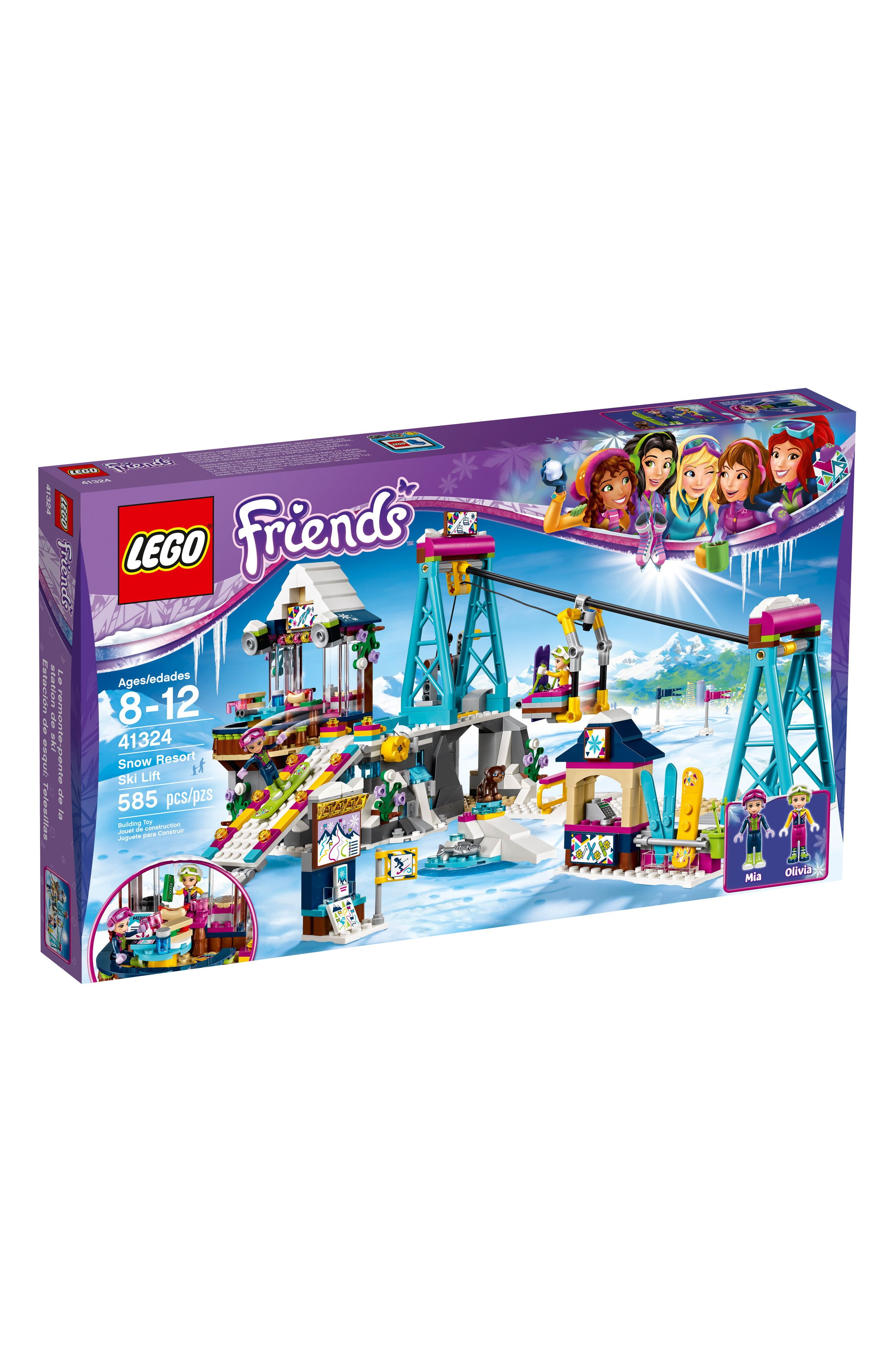 Lego friends snow resort ski lift 41324 in 2020 snow