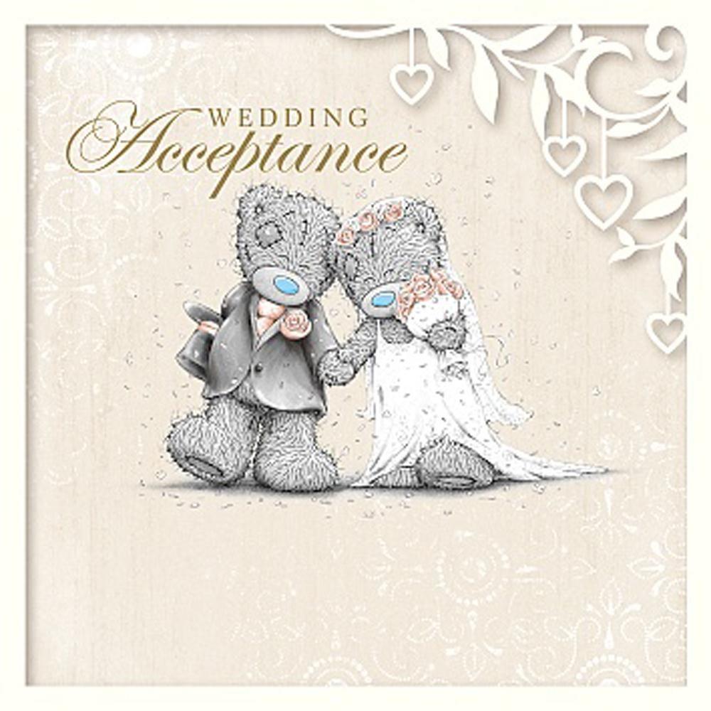 Wedding Acceptance Me to You Bear Card £1.49 | Wedding | Pinterest ...