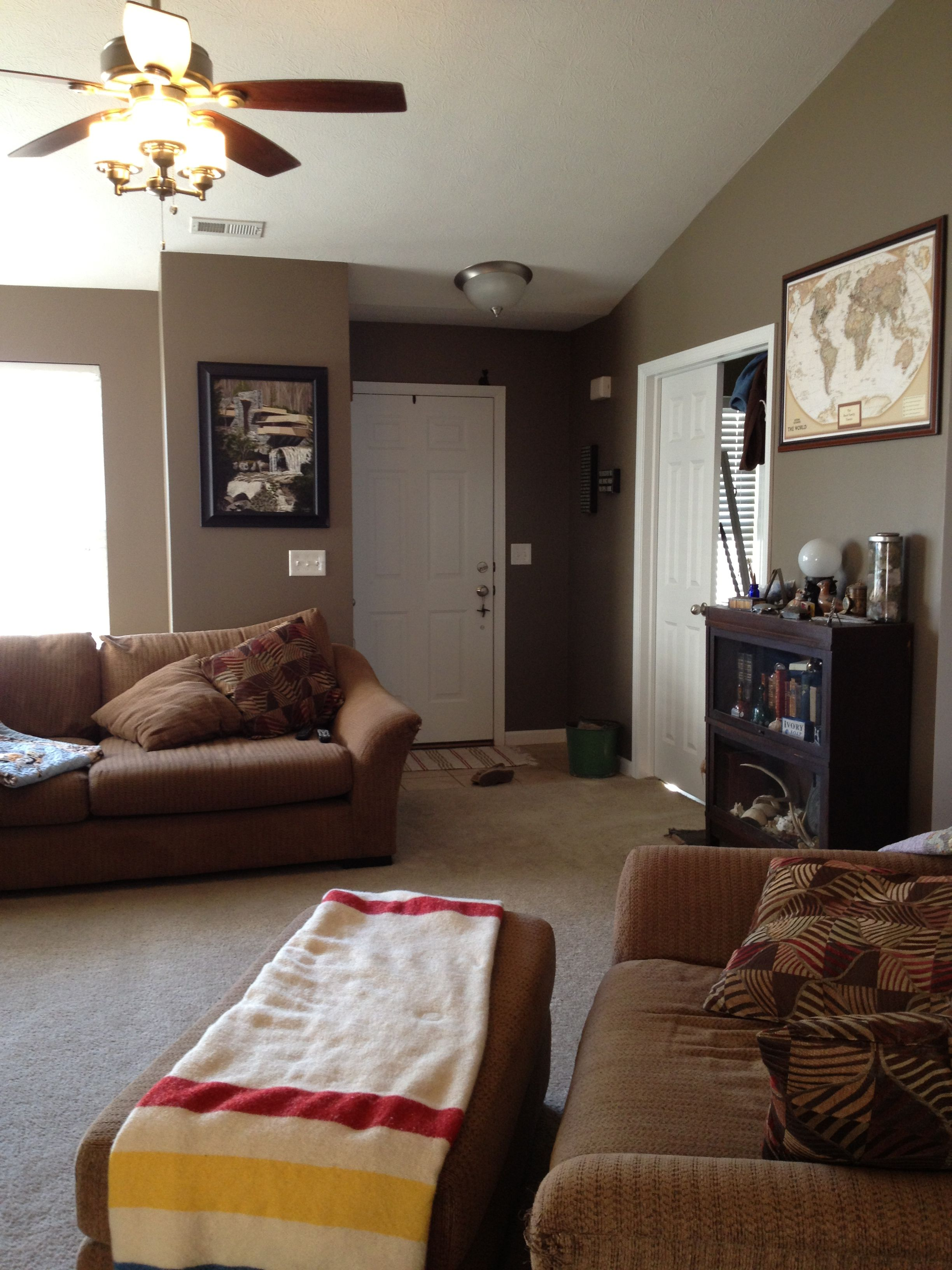 Warm Stone By Sherwin Williams Love How This Room Turned