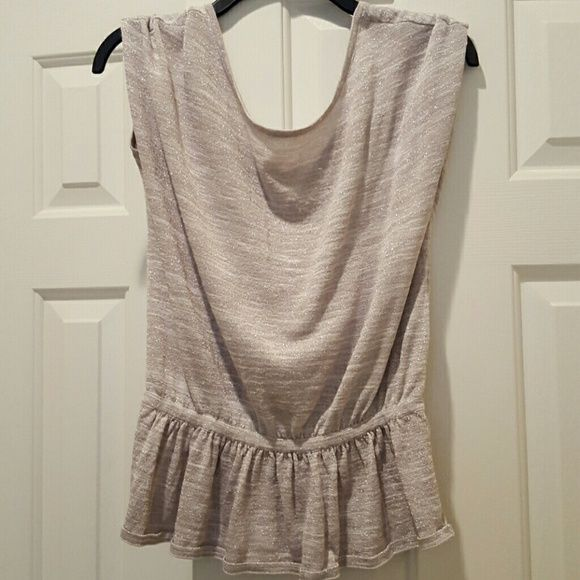 EXPRESS top Express top. Glittery silver throughout. Looks cute with jeans or for work. Express Tops