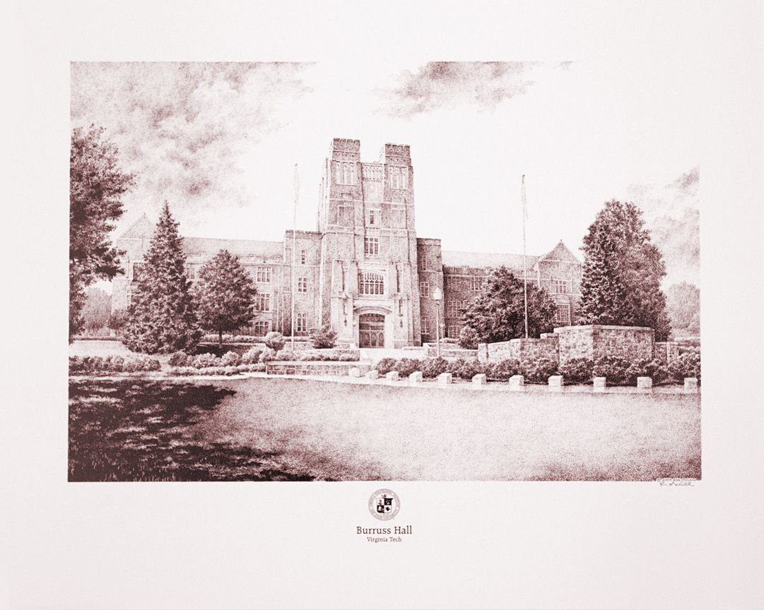 The iconic Burruss Hall at Virginia Tech my original and