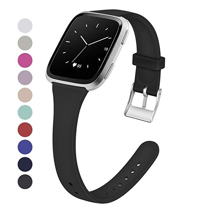 MEFEO Compatible with Fitbit Versa Bands, Slim Soft