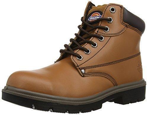 Amblers Steel - Calzado de protección de cuero para hombre, color marrón, talla 13 UK
